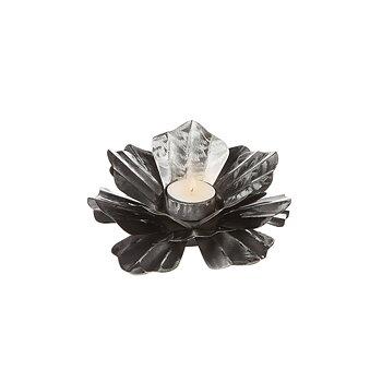 Ljushållare Blomma silver, 18 cm