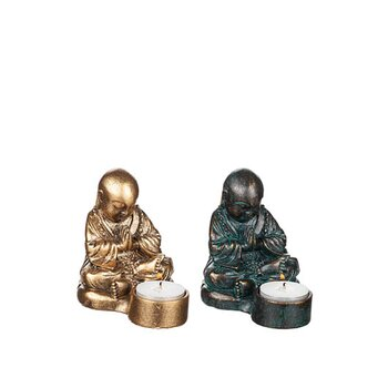 Ljushållare Shaolin, gyllenbrun 11 cm