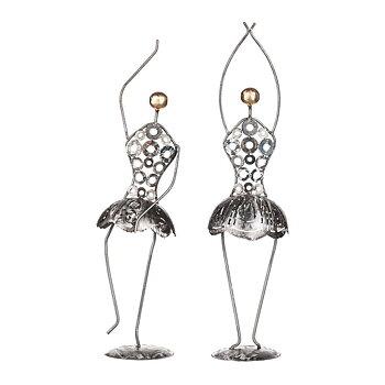 Dansande Kvinna, smide 2 händer upp 47 cm