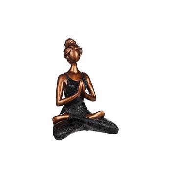 Yogakvinna, grön 23 cm