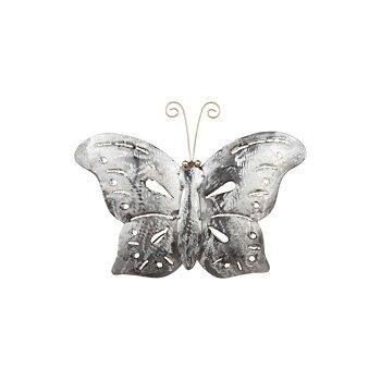 Fjäril i hamrad plåt, 20x30 cm