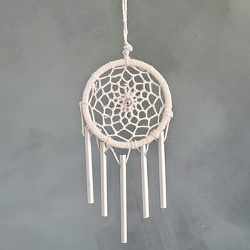 Dreamcatcher wind chime White