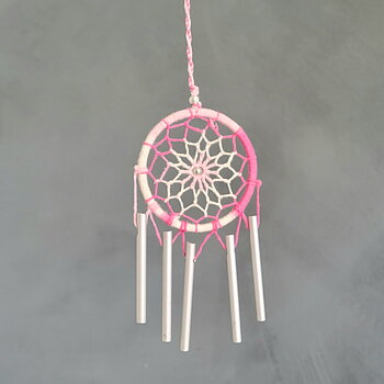 Dreamcatcher wind chime Pink
