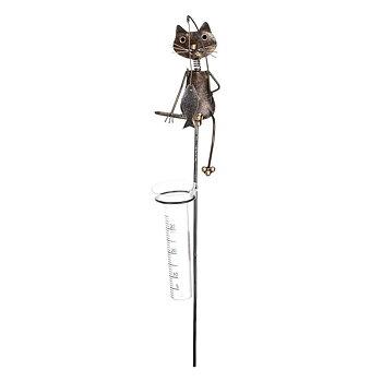 Regnmätare katt i hamrad plåt 115cm