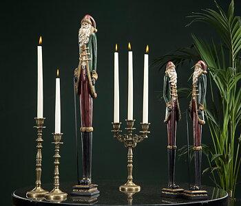 Candlestick Elise brass, 23x10x35 cm