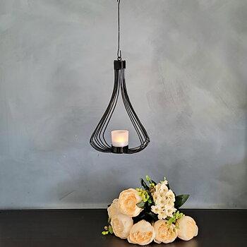 Hanging lantern Fortuna, 30 cm black