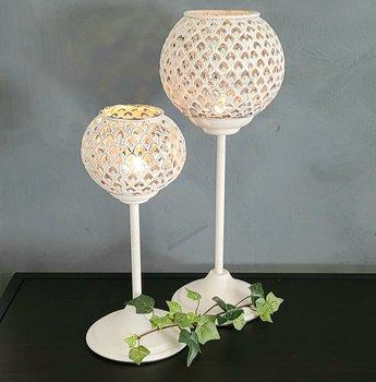 Candle lantern Saga White 12,5x28cm