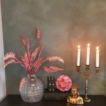 Kvist Fern rosa, konstgjord