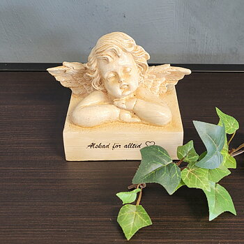 Angel in Poly with Text Loved forever