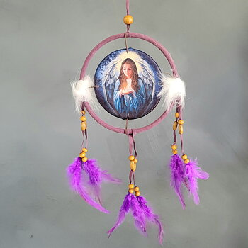 Dreamcatcher with Angel Purple