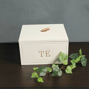 """Wooden box - """"Tea"""" with cover"""