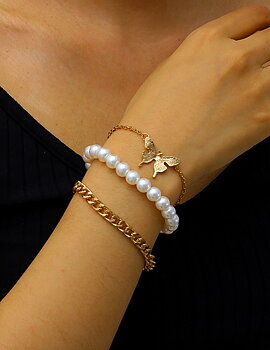 Armband Butterfly Pearl