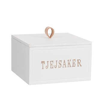 """Wooden box """"Tjejsaker"""" with cover"""