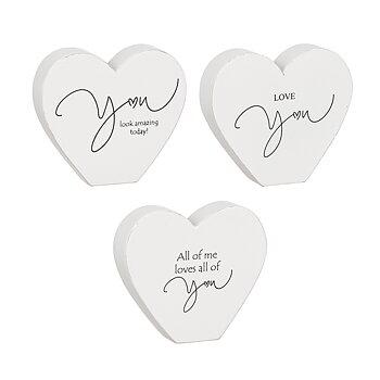 Stående hjärta med text Love You