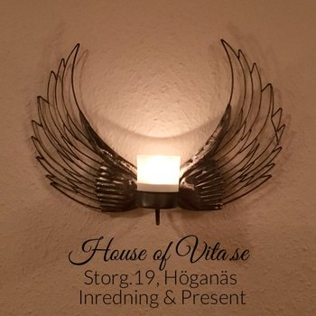 Forged candle holder wall, Wings approx. 35 cm
