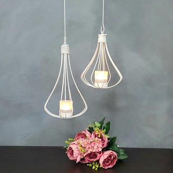 Hanging lantern Fortuna, 30 cm white