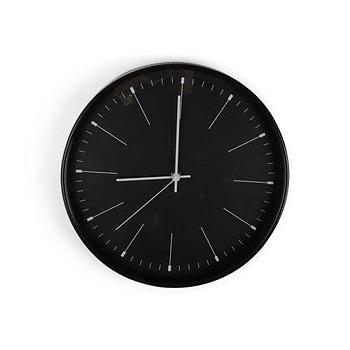 Klocka Stil Svart, 30 cm