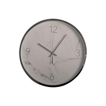 Klocka Marmor Vit, 35,5 cm
