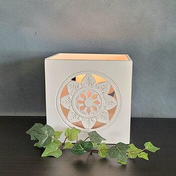 Candle lantern Flower, block candle