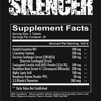 SILENCER - Non stim Fat burner