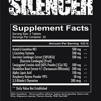 SILENCER - Non stim Fat burner