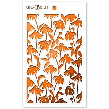 """Ciao Bella - Daisies- stencil 5x8"""""""