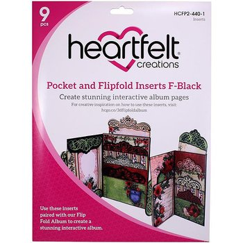 Heartfelt - Pocket and Flipfold Inserts F- Black