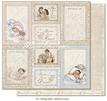 Maja Design -  Vintage Baby- Ephemera cards