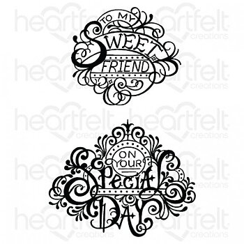 Heartfelt - Fancy Special Day - Cling Stamp Set