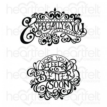 Heartfelt - Elegant Especially For You - Cling Stamp Set