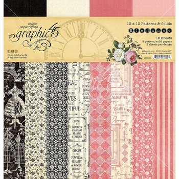 "Graphic45 - Elegance-  baspapper Patterns & Solids 12"" x 12"""