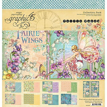 "Graphic45 - Fairie Wings- Collection pack 12x12"" inkl stickersark"