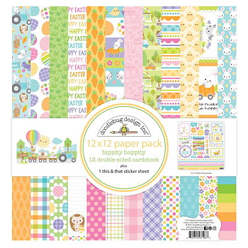 Doodlebug - Double-Sided paper pack - Hippity Hoppity 12x12
