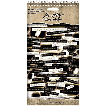 Tim Holtz- Idea-ology- Spiral Bound Sticker Book