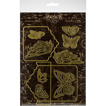 Graphic45- Metal Die Collection - Tag, Pocket & Butterfly Dies