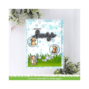 Lawn Fawn - Lawn Clippings Stencil - Bubble Background
