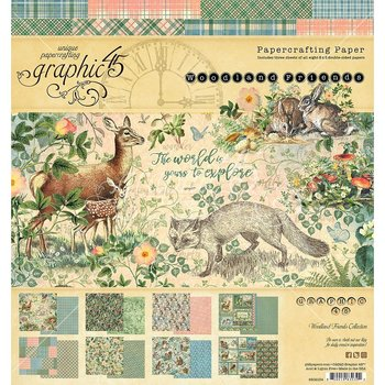 Graphic45 - Double-Sided Paper pad - Woodland Friends 8x8