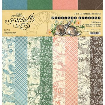 Graphic45 - Double-Sided Paper pad - Woodland Friends 12x12