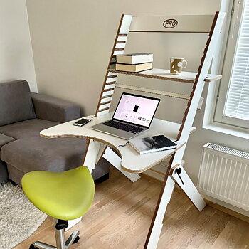 PRO-arbeidsstasjon 80 med armstøtte, ergonomisk kontorpult