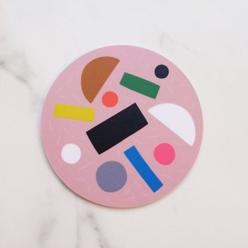S / Pink Pizza Coaster