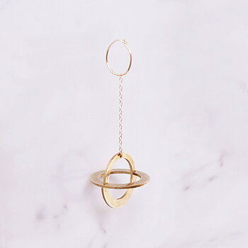 Copernicus Sphere Single Earring