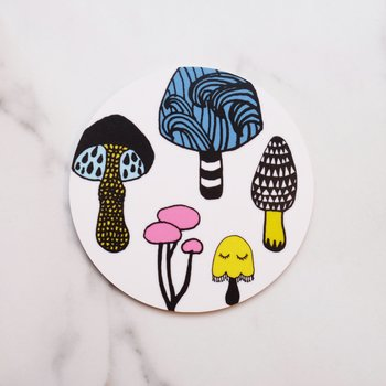 White Mushroom / W Coaster–OUT OF STOCK UNTIL 15/6/21