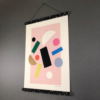 A4 Print Hanger Frame, black/white lunar storm