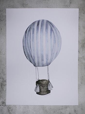 Ljusblå luftballong 30x40