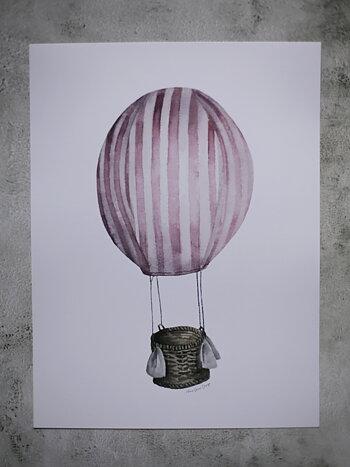 Rosa luftballong 30x40