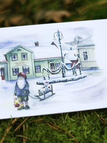 Vallby friluftsmuseum, vikt kort med kuvert