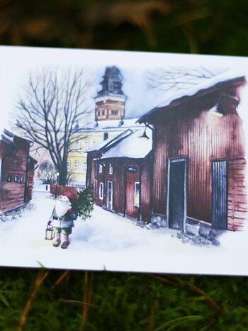 Västerås domkyrka, vikt kort med kuvert