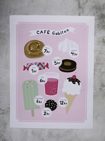Cafe rosa 30x40