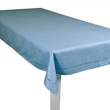 Strykfri duk ljusblå 150x300 cm