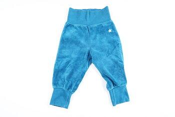 Blåa mjukisbyxor från Lindex i storlek 68